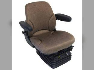 Seat Assembly - Air Suspension with Armrests Fabric Brown John Deere 4630 4230 3130 4430 4030 3030