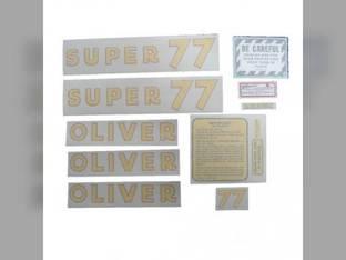 Tractor Decal Set Super 77 Vinyl Oliver Super 77