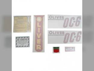 Tractor Decal Set OC-6 Red Vinyl Oliver OC6
