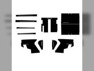 Cab Foam Kit with Headliner Stopler Cab 8 Pieces Black John Deere 4620 4010 3010 3020 4520 4000 4020 4320