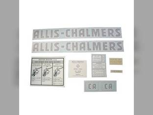 Decal Set CA Vinyl Allis Chalmers CA