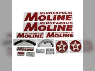 Tractor Decal Set Super 4 Star Red Mylar Minneapolis Moline SUPER 4 STAR