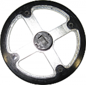 Rotating Disc Scraper Wheel with Nylon Cover