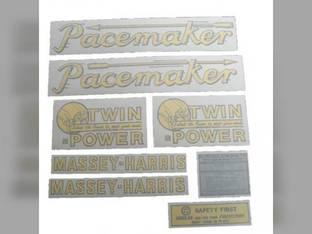 Tractor Decal Set Pacemaker Vinyl Massey Harris Pacemaker