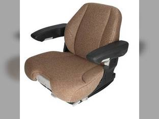 Seat Assembly - Air Suspension Grammer Style Fabric Brown Massey Ferguson John Deere 7520 Case IH 7150 7110 7140 7120 7130 Steiger McCormick New Holland Case Kubota Allis Chalmers Deutz Allis AGCO