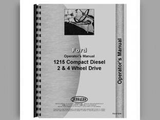 Operator's Manual - 1215 Ford 1215