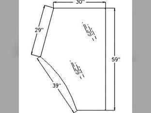 Cab Glass - Door LH Massey Ferguson 4225 4235 4270 4255 4260 4245 4265 4240 3804659M1