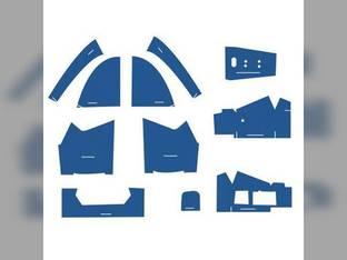Cab Foam Kit less Headliner Blue Ford 5600 7600 6600