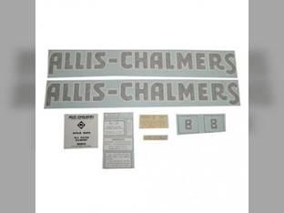 Decal Set B Blue Long A&S Vinyl Allis Chalmers B