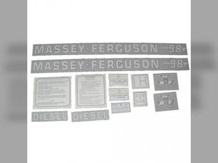 Tractor Decal Set 98 Diesel Vinyl Massey Ferguson 98