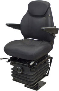 Case 580 Series Backhoe Seat & Suspension - Black Fabric With Arms