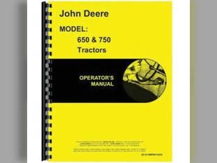 Operator's Manual - JD-O-OMRW15455 John Deere 750 650