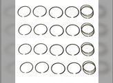 Piston Ring Set - Standard Minn-Moline Minneapolis Moline 336A-4 5 Star M5 M504 M602 M604 M670 Super