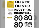 Tractor Decal Set 80 Industrial Mylar Oliver 80