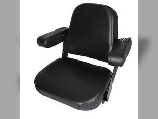Seat Assembly - Mechanical Vinyl Black International Hydro 186 786 886 986 1086 1486 1586 3088 3288 3388 3488 3588 3688 3788 5088 5288 5488 6388 6588 6788 1440 1460 1480 Case Massey Ferguson Case IH