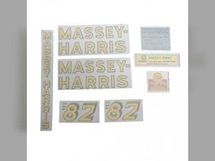 Decal Set Vinyl Massey Harris 82