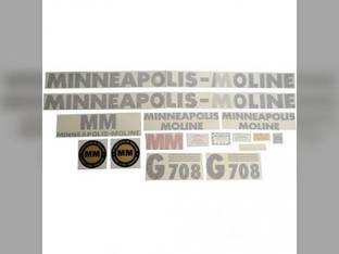 Tractor Decal Set G708 Vinyl Minneapolis Moline G708