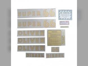 Tractor Decal Set Super 66 Diesel Vinyl Oliver Super 66