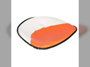 "Pan Seat 21"" Deluxe Cushion Vinyl White & Orange Allis Chalmers D15 D17 B D12 WC D21 WD D10 WD45 D19 D14 CA C G"