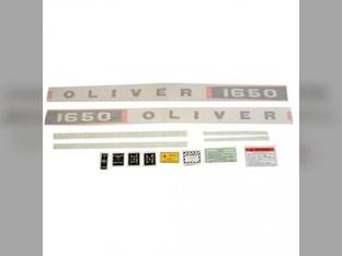 Tractor Decal Set 1650 Vinyl Oliver 1650