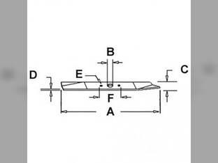Mower Blade John Deere 116H 170 260 180 116 185 240 320 F510 175 245 265 AM31100 M41967