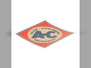 "Decal 6"" Diamond w/Orange Background Mylar Allis Chalmers IB D15 5050 D17 175 7020 B 185 D12 WC RC D21 160 WD 170 7045 D10 5030 WD45 D19 180 200 190 D14 7050 220 5040 CA WF 7010 C 210 G"