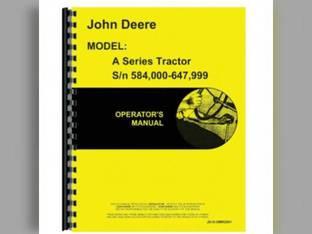 Operator's Manual - JD-O-OMR2001 John Deere A A