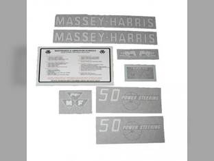 Tractor Decal Set 50 Power Steering Vinyl Massey Harris 50