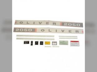 Tractor Decal Set 2050 Diesel Vinyl Oliver 2050