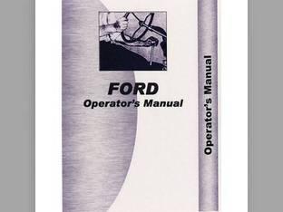 Operator's Manual - FO-O-501 541 Ford 501 501