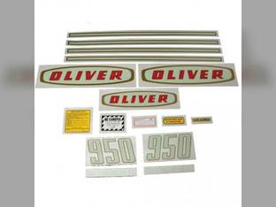 Tractor Decal Set 950 Early Diesel Mylar Oliver 950
