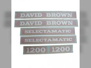 David Brown Decal Set Case 1200