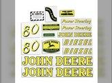 Decal Set John Deere 80