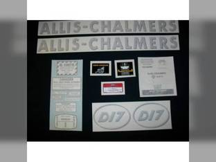 Decal Set D17 Gas w/Oval Model Letters Vinyl Allis Chalmers D17