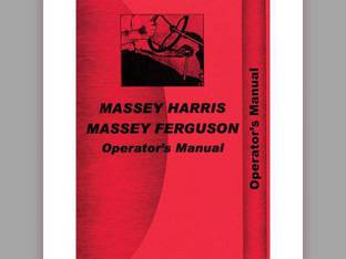 Operator's Manual - 33 Massey Harris 33 33