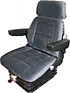 Seat and Suspension Assembly - Gray Fabric
