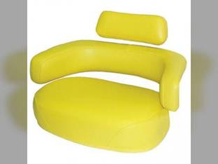 Seat 3- Piece Cushion Replacement Set Without Hardware Restoration Quality Vinyl Yellow John Deere 4630 2510 4620 4010 4230 3010 6620 6620 3020 7700 7700 6600 6600 4520 4000 4020 4430 4030 4320 2520