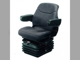 Seat Assembly Full Adjustment with Suspension Fabric Gray Case IH 7110 8940 MX210 7210 7150 8920 7140 7230 7120 8930 7250 7240 7220 8950 8910 7130 MX230 New Holland Hagie Versatile Ford Deutz Allis
