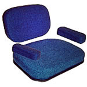 Seat Cushion - Blue Fabric
