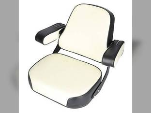 Seat Assembly Vinyl Black/White - Folding Armrests International 2806 1206 2756 1456 826 706 2826 756 1566 806 1256 1568 1466 2706 686 1026 856 2504 Hydro 100 1468 766 2856 666 1066 966 656 2656