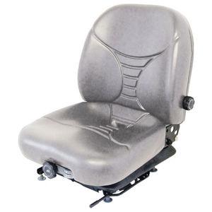 Seat Assembly Vinyl Gray New Holland L170 L175 L160 LS170 LS160 John Deere 240 250 270 315 320 Case 450 440 1840 410 430 420 1845 1845C 90XT Bobcat 753 773 S175 S185 T190 Gehl Caterpillar Mustang