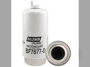 Filter - Fuel / Water Separator With Drain Secondary BF7677 D John Deere Massey Ferguson New Holland TM135 TM150 TM140 TM165 TM120 TM130 TM125 Case IH MXM120 MXM175 MXM155 MXM130 MXM190 MXM140 AGCO