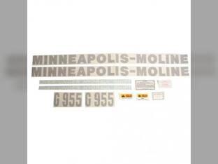 Tractor Decal Set G955 Vinyl Minneapolis Moline G955