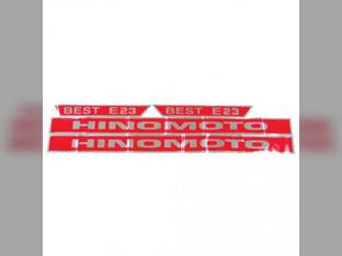 Decal E23 Hinomoto E23