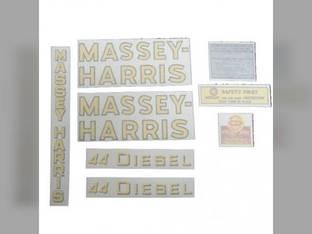 Decal Set 44 Diesel Vinyl Massey Harris 44